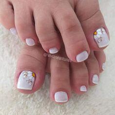 Nails, Beauty, Nail Ideas, Designed Nails, Floral, Simple Toe Nails, Toe Nail Art, Bridal Nail Design, Nail Art Designs