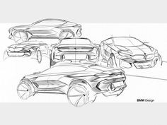 New BMW design sketches - Car Body Design Bmw X6, Bmw Design, Car Design Sketch, Bmw Xdrive, Homemade Tractor, Architecture Drawing Sketchbooks, Perspective Sketch, Industrial Design Sketch, Painting Trim