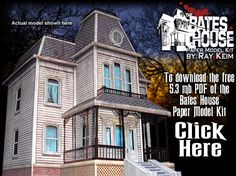 The Bates House  Haunted Mansion  Paper Model Kit by Ray Klein.  Free Template