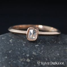 Handcrafted Unique Engagement Rings & Wedding Rings by lovebyohkuol Cushion Solitaire, Cushion Cut Engagement Ring, Diamond Engagement Rings, Rose Gold Diamond Ring, Diamond Cuts, Minimalist Wedding Rings, Ring Pictures, Ring Designs, Gold Art