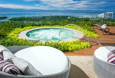 A Jacuzzi overlooking views of the Ameca River, Sierra Madres, and Pacific Ocean || Vidanta Nuevo Vallarta