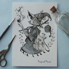 Raquel Travé в Твиттере: «Day Merchant witch Art Drawings Sketches, Cool Drawings, Witch Drawing, Magic Drawing, Art Mignon, Arte Sketchbook, Witch Art, Cartoon Art, Cute Art