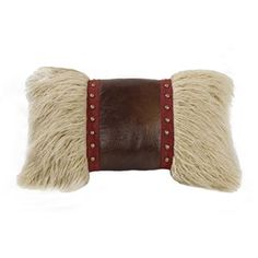 Delectably Yours Ruidoso Mongolian Fur Oblong Pillow by HiEnd Accents #DelectablyYours Southwestern Western Decor