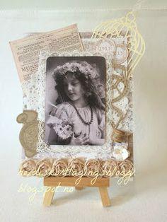 Heidis kortlagingsblogg: Vintage jente med tekst