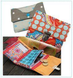 Geldtasche Wildspitz, Kreativ-FREEbook - farbenmix Online-Shop - Schnittmuster, Anleitungen zum Nähen