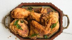 Kerala-Style Fried Chicken with Coconut Oil and Curry Leaves Recipe | Bon Appetit