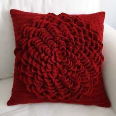 Flower Pillow Cover PDF Crochet Pattern by rachelscrochet on Etsy Crochet Cushion Cover, Crochet Pillow Pattern, Crochet Cushions, Crochet Flower Patterns, Crochet Flowers, Pattern Flower, Cushion Covers, Cushion Pillow, Chair Covers