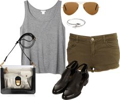 """""""inspired summer outfit for college"""" by hayleycarbran ❤ liked on Polyvore"""