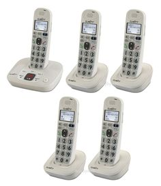 Clarity XLC7BT 59364.001 Loud Amplified 2 Cordless Phones Bluetooth Connect Cell