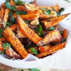 crispy sweet potato fries baked