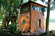 Cabin in the Heart of the Oregon Wine Country.  I think I might look into staying here for a weekend!