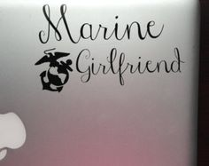 Marine Girlfriend Decal for Laptop, Car or iPad