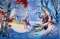 """""""Winter's Greeting"""" - by Guy Vasilovich -  150 piece limited edition giclée on canvas http://www.acmearchivesdirect.com/product/WDINT788/Winters-Greeting.html?cid=  150 piece limited edition giclée on paper http://www.acmearchivesdirect.com/product/WDINT788P/Winters-Greeting.html?cid="""