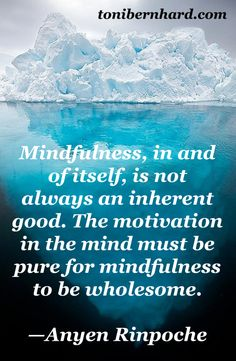 This is why I define mindfulness as, not just attention to the present moment, but caring attention.