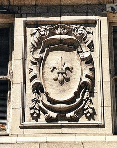 This fleur-de-lis on the Michigan Theater Building reflects Detroit s  French heritage. 37717e7ff
