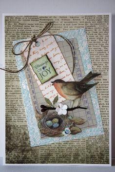 Joy Handmade Card by SusanTracie on   http://creativehandmadecollections.blogspot.com