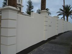 Solid With Caststone Pillars