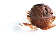 Single-Serving Chocolate Muffin with Fudge Sauce - The Fit Foodie