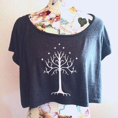Tree of Gondor Crop Top  Inspired by Lord of the by SoEffingCute