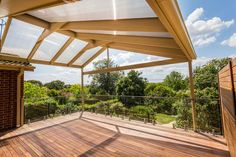 Large outdoor living space created by ACT Decks