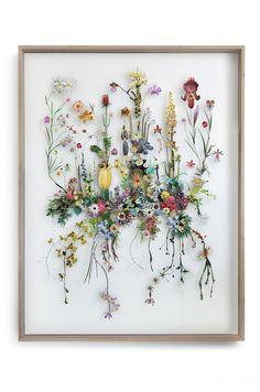 Flower construction #82 (w:130 h:170 d:10 cm)