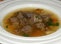 Hovězí vývar s morkovou kostí Soup, Beef, Ethnic Recipes, Meat, Soups, Steak