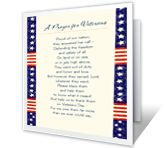 'A Prayer for Veterans' is one of thousands of American Greetings cards you can personalize, share, and send to your friends and family.