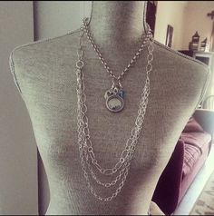 More ways to wear your Origami Owl Chains.   Shop, Party, Join! #37686 http://barbarasbling.origamiowl.com/