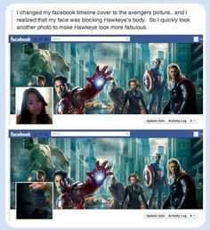 Funny Pictures: That's One Way To Fix Your Facebook Cover...
