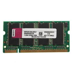 Description: Mini 512MB DDR-333 PC2700(SODIMM) Memory RAM KIT 200-pin for Laptop Notebook RAM features: Unbuffered Technology: DDR SDRAM Form factor: SODIMM 200-pin Memory speed [MHz]: 333 MHz Capacity: 512MB Memory specification compliance: PC2700 Data Integrity Check: Non-ECC CAS Latency...