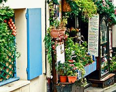 Paris Photography - Restaurant le Poulbot Photograph - Kitchen Print - Colorful French Cafe - Parisian Decor France Wall Art Montmartre