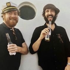 Scott Stangland: Just a couple a bros - beers beards and hats akimbo Ill miss ya @joshgroban You;re a true Mensch ❤️