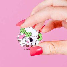 Baby Lamb Hard Enamel pinlapel pin // Retro Kitsch pin