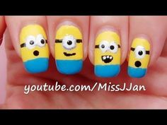 ▶ Despicable Me 2: Minions Nail Art - YouTube