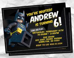 Invitación de Lego Batman Lego Batman invitaciones