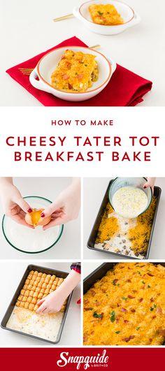 Cheesy Tater Tot Breakfast Bake. NOM.