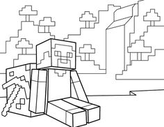 Minecraft Coloring Pages Free Printable Minecraft Pdf Coloring