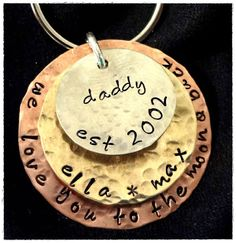 Hey, I found this really awesome Etsy listing at http://www.etsy.com/listing/153165364/daddy-dad-key-chain-personalized-we-love