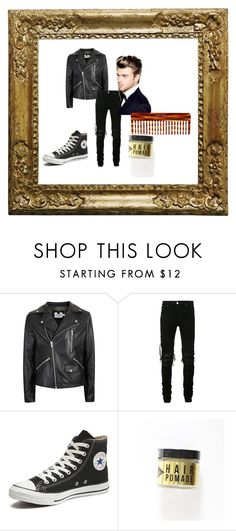 """Swinging 50's Male"" by qxeen-anii on Polyvore featuring Topman, AMIRI, Converse, Mason Pearson, men's fashion and menswear"