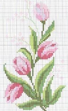 Roses  -  Cross Stitch Chart ... no color chart available, just use the pattern chart as your color guide..