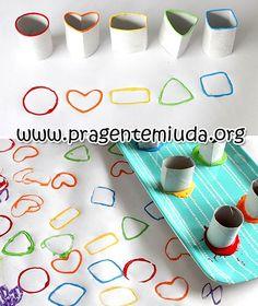 Trabalhando formas geométricas com maternal - Atividades para maternal, creche e berçário