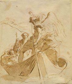 Giovanni Battista Tiepolo, (Italian, 1696–1770), The Flight into Egypt