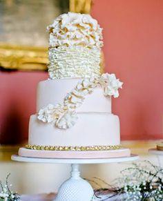 Romantic Ruffles and Petals for this bespoke design #weddings #weddingcakes