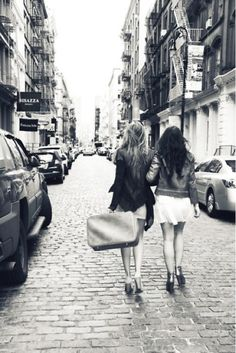 girls in the city together @Kara Cook  exploring the city would be sooo fun with best friends!