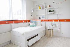 BRIMNES bedbank met 2 lades | #IKEA #LangLeveVerandering #IKEAnl #student #werkplek #slaapkamer #woonkamer #bed #slaapbank