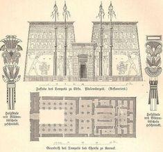 Plan, Temple of Edfu