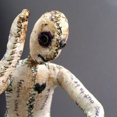 One of a Kind Doll  Stories Untold  Figurative Fabric by CathyCarr, $495.00