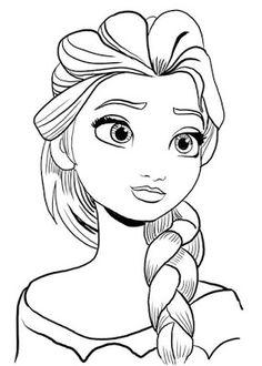 J. Ossorio Papercraft: Plantilla para colorear de Elsa de Frozen