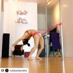 """Mi piace"": 586, commenti: 14 - Bad Kitty® PoleFit® (@badkittyusa) su Instagram: ""Here's a cool way to train back bends!! #badkittypride  Repost @rubberbanditz ・・・ Awesome…"""