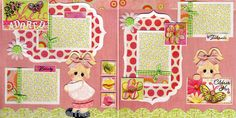 She Is ADORED 2 Premade Scrapbook Pages 12x12 by Cherry Scrapbooking 3D Art | eBay